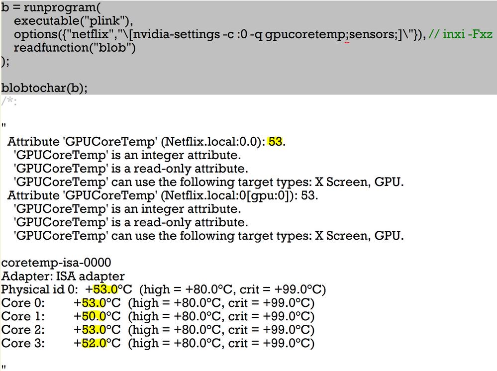 RunProgram with the blob option returns binary data which might convert to Unicode