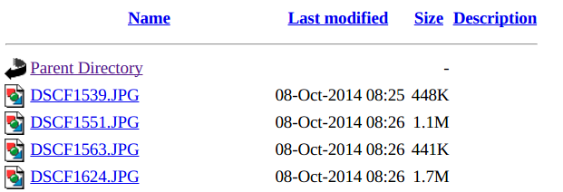 Apache server directory listing