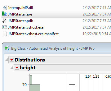 Close the C# app, JMP stays open