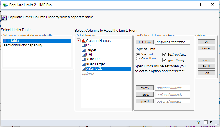 Write Limits to a Data Table from a Limits Table - JMP User Community