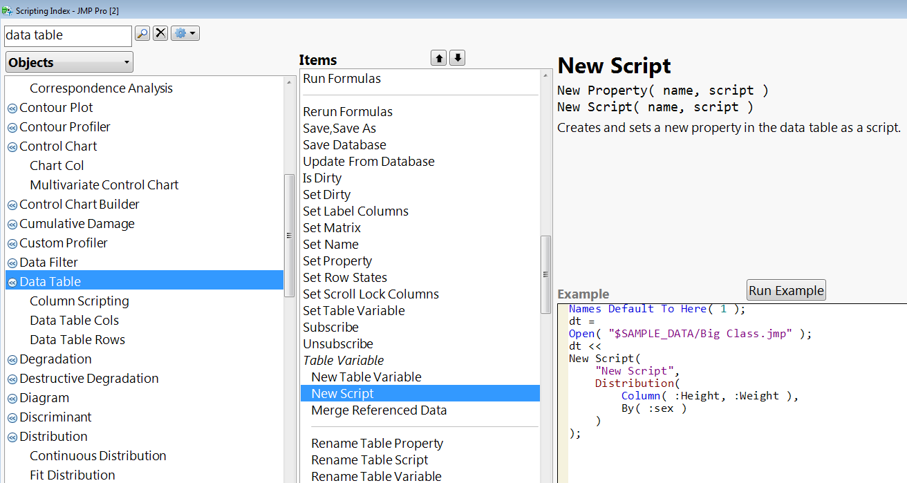 Solved: JSL Programmatic version of Save to Data Table - JMP