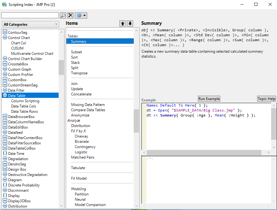 Extract the data from data table - JMP User Community