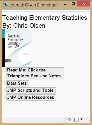 Textbook Add-In: JMP For Teaching Elementary Statistics