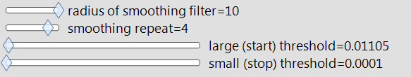 Slider Settings in Scripting Index example