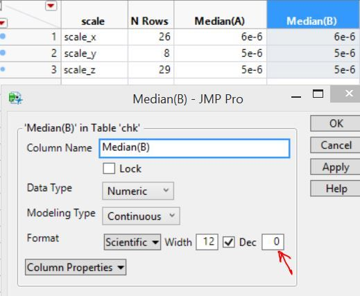 Solved: decimal places in summary table - JMP User Community