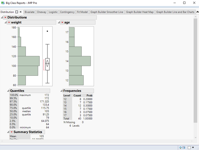 A tabbed report is a single-window report that displays each table script generated report in its own tab.