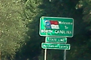 Welcome sign at NC border