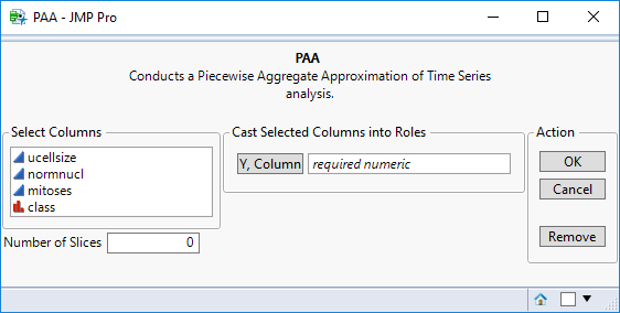 JMP to R Add-In Builder Example: PAA (Piecewise Aggregate Approximation)