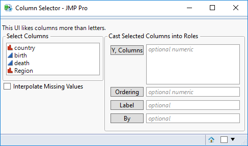 Example 3: Using Col List Boxes