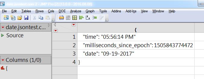 JSON data, not split up very well