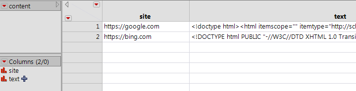 Data table with HTML loaded in formula column