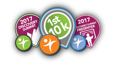 All Discovery Summit 2017 attendees and the first 10,000 members will receive badges.