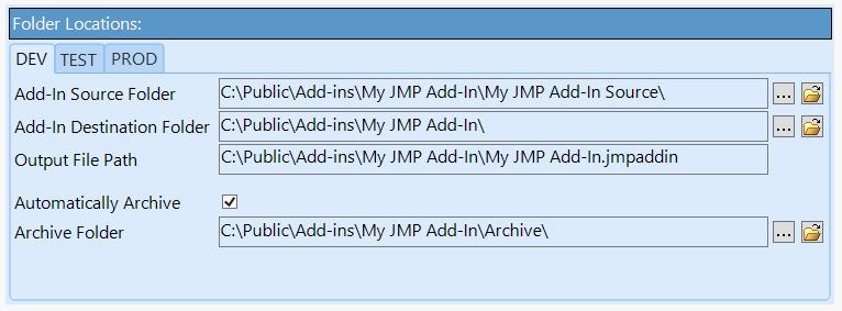 Folder Locations