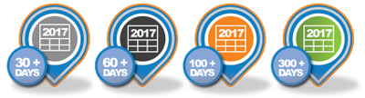 Active User Community members have been awarded new badges for their attendance in 2017.