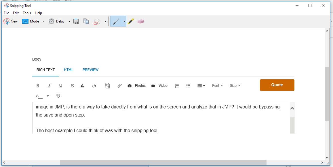 Solved: Transparent window / screenshot - JMP User Community